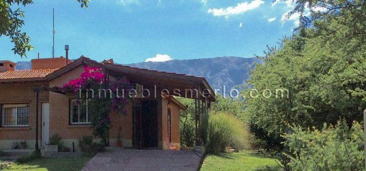 Venta de Casa y Parque en Sierras de Merlo, San Luis